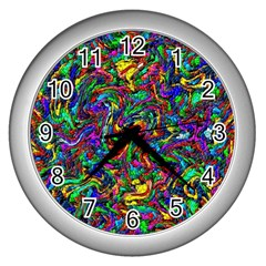 Artwork By Patrick Pattern 31 1 Wall Clocks (silver)