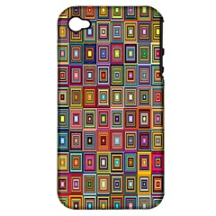 Artwork By Patrick Pattern 33 Apple Iphone 4/4s Hardshell Case (pc+silicone)