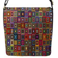 Artwork By Patrick Pattern 33 Flap Messenger Bag (s)