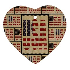Usa Heart Ornament (two Sides)