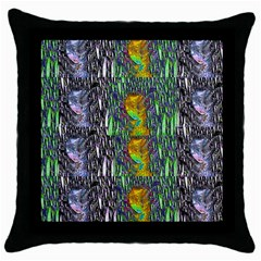 May Be A Woman In Manga Fire Throw Pillow Case (black)