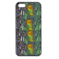 May Be A Woman In Manga Fire Apple Iphone 5 Seamless Case (black)