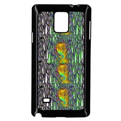 May Be A Woman In Manga Fire Samsung Galaxy Note 4 Case (black)