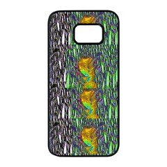 May Be A Woman In Manga Fire Samsung Galaxy S7 Edge Black Seamless Case
