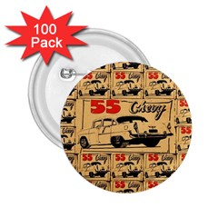 55 Chevy 2 25  Buttons (100 Pack)