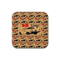 55 Chevy Rubber Square Coaster (4 Pack)