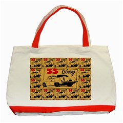 55 Chevy Classic Tote Bag (red)