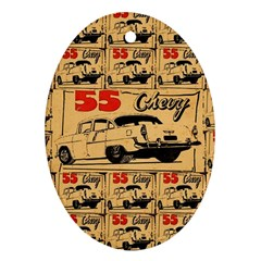 55 Chevy Oval Ornament (two Sides)