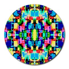 Artwork By Patrick  Colorful 1 Round Mousepads