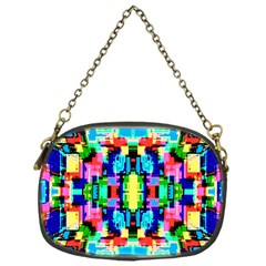 Artwork By Patrick  Colorful 1 Chain Purses (one Side)