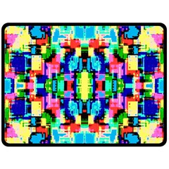 Artwork By Patrick  Colorful 1 Double Sided Fleece Blanket (large)