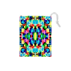 Artwork By Patrick  Colorful 1 Drawstring Pouches (small)