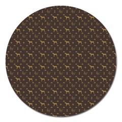 Louis Weim Luxury Dog Attire Magnet 5  (round)