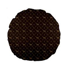 Louis Weim Luxury Dog Attire Standard 15  Premium Round Cushions