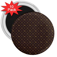 Louis Dachshund  Luxury Dog Attire 3  Magnets (10 Pack)