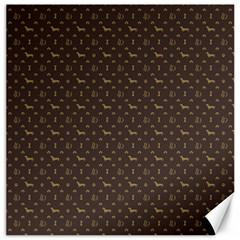 Louis Dachshund  Luxury Dog Attire Canvas 20  X 20