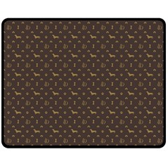 Louis Dachshund  Luxury Dog Attire Fleece Blanket (medium)