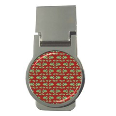 Tropical Stylized Floral Pattern Money Clips (round)
