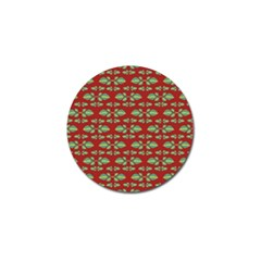 Tropical Stylized Floral Pattern Golf Ball Marker