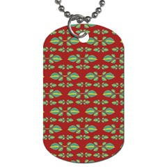 Tropical Stylized Floral Pattern Dog Tag (two Sides)
