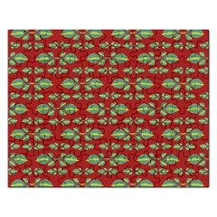 Tropical Stylized Floral Pattern Rectangular Jigsaw Puzzl