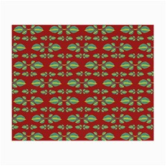 Tropical Stylized Floral Pattern Small Glasses Cloth
