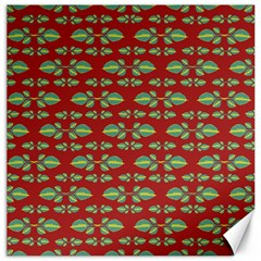 Tropical Stylized Floral Pattern Canvas 20  X 20