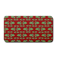 Tropical Stylized Floral Pattern Medium Bar Mats