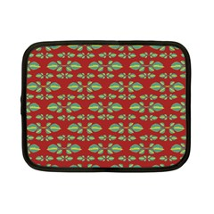 Tropical Stylized Floral Pattern Netbook Case (small)
