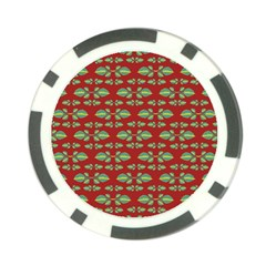 Tropical Stylized Floral Pattern Poker Chip Card Guard (10 Pack)