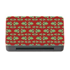 Tropical Stylized Floral Pattern Memory Card Reader With Cf