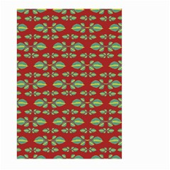 Tropical Stylized Floral Pattern Large Garden Flag (two Sides)