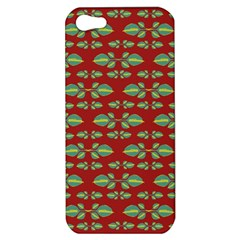 Tropical Stylized Floral Pattern Apple Iphone 5 Hardshell Case