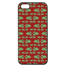 Tropical Stylized Floral Pattern Apple Iphone 5 Seamless Case (black)