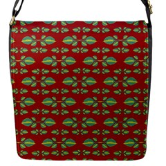 Tropical Stylized Floral Pattern Flap Messenger Bag (s)