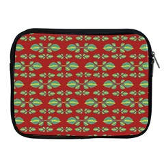 Tropical Stylized Floral Pattern Apple Ipad 2/3/4 Zipper Cases