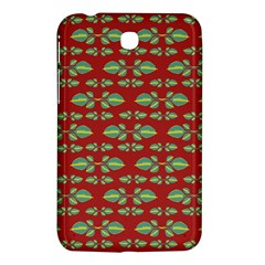 Tropical Stylized Floral Pattern Samsung Galaxy Tab 3 (7 ) P3200 Hardshell Case