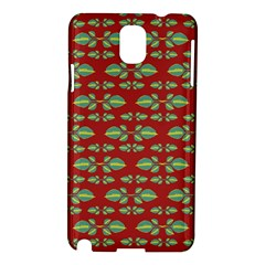Tropical Stylized Floral Pattern Samsung Galaxy Note 3 N9005 Hardshell Case