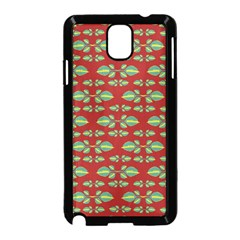 Tropical Stylized Floral Pattern Samsung Galaxy Note 3 Neo Hardshell Case (black)