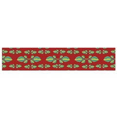 Tropical Stylized Floral Pattern Small Flano Scarf