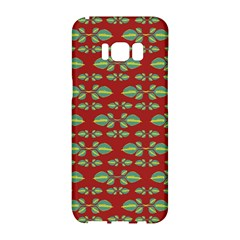 Tropical Stylized Floral Pattern Samsung Galaxy S8 Hardshell Case