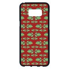 Tropical Stylized Floral Pattern Samsung Galaxy S8 Plus Black Seamless Case