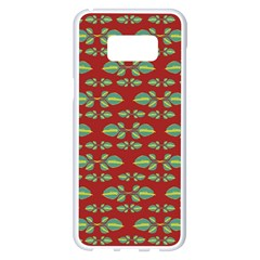 Tropical Stylized Floral Pattern Samsung Galaxy S8 Plus White Seamless Case