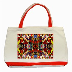 Pattern 35 Classic Tote Bag (red)