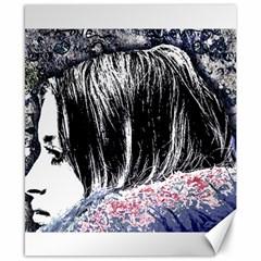Grunge Graffiti Style Women Poster Canvas 8  X 10