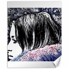 Grunge Graffiti Style Women Poster Canvas 11  X 14