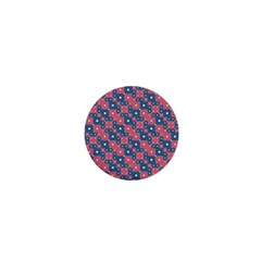Squares And Circles Motif Geometric Pattern 1  Mini Magnets