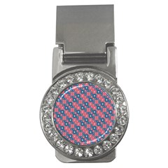 Squares And Circles Motif Geometric Pattern Money Clips (cz)