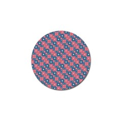 Squares And Circles Motif Geometric Pattern Golf Ball Marker (10 Pack)