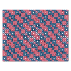Squares And Circles Motif Geometric Pattern Rectangular Jigsaw Puzzl